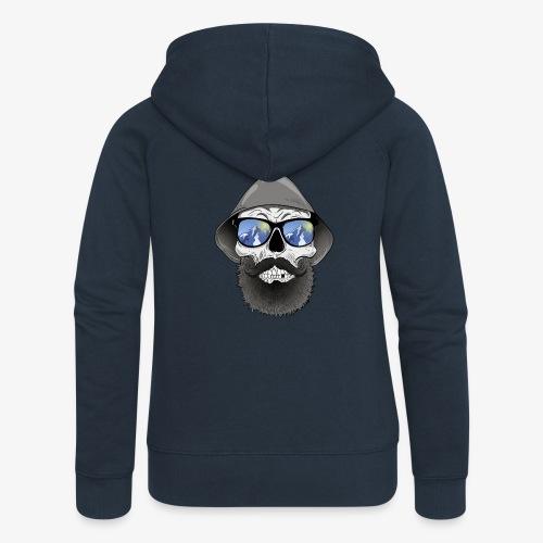 Totenkopf mit sonnenbrille und hut - Frauen Premium Kapuzenjacke