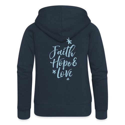 faith hope love frühling - Frauen Premium Kapuzenjacke