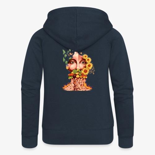 Fruit & Flowers - Women's Premium Hooded Jacket