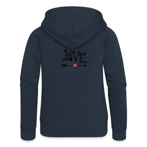 Love flêche - Veste à capuche Premium Femme