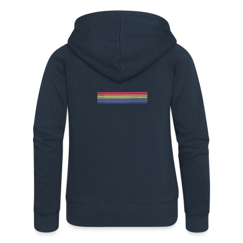 Colored lines - Women's Premium Hooded Jacket