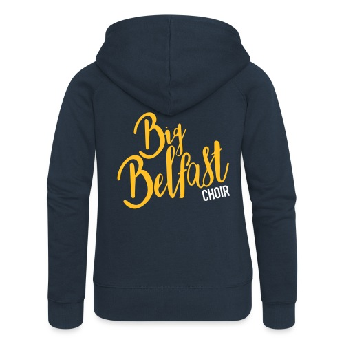 Big Belfast Choir Yellow white - Women's Premium Hooded Jacket