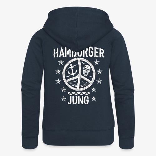 96 Hamburger Jung Peace Friedenszeichen Seil - Frauen Premium Kapuzenjacke