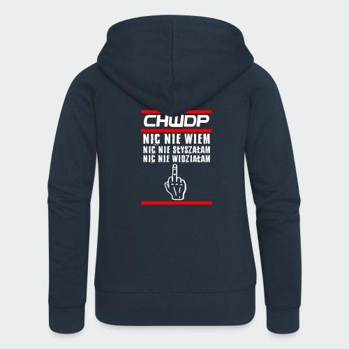 Tank top damski Premium CHWDP - Rozpinana bluza damska z kapturem Premium