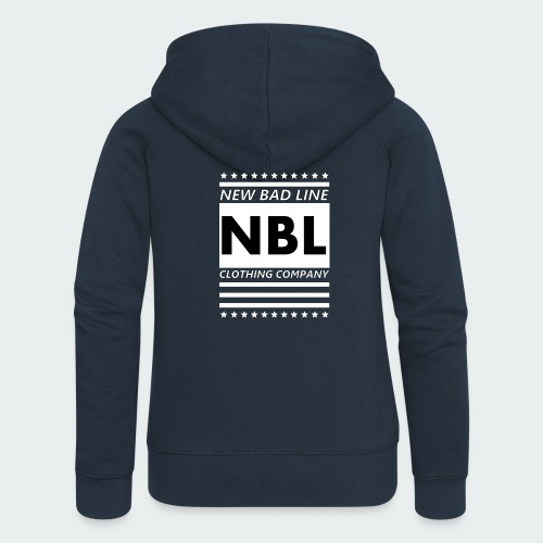 Męska Koszulka Premium New Bad Line - Rozpinana bluza damska z kapturem Premium