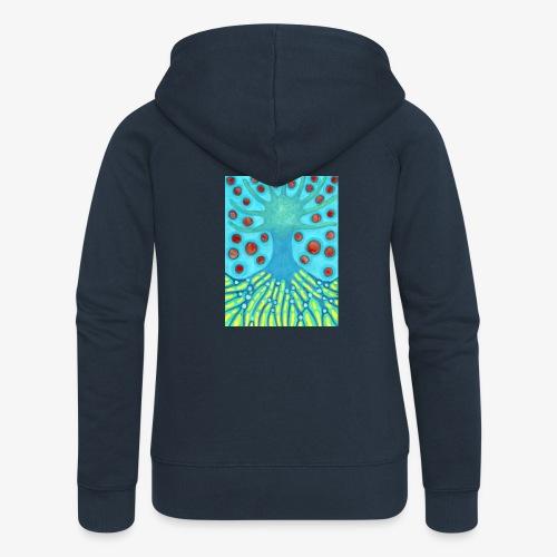 Drzewo I Planety - Rozpinana bluza damska z kapturem Premium