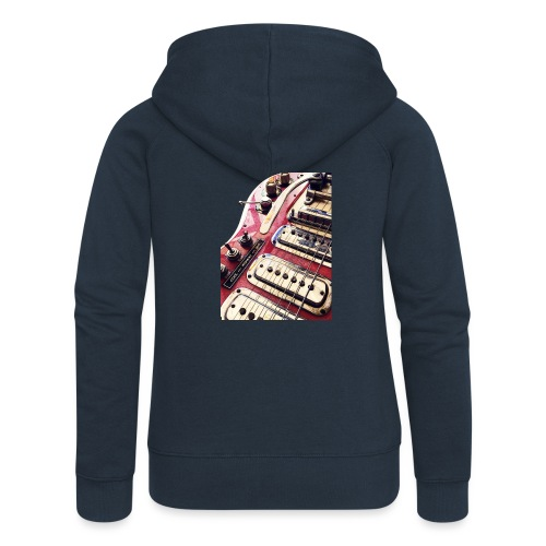 Artscreativity's Guitar - Women's Premium Hooded Jacket