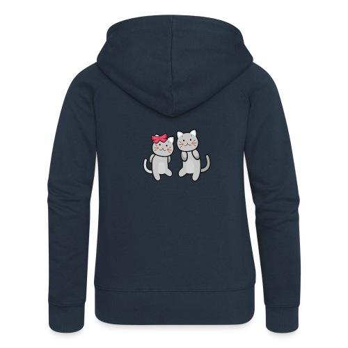 Kotki - Rozpinana bluza damska z kapturem Premium