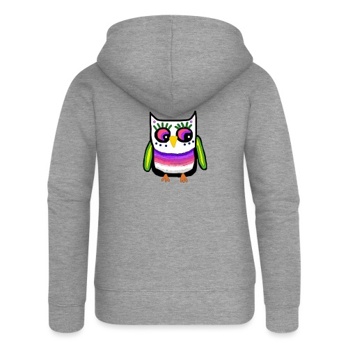 Colorful owl - Women's Premium Hooded Jacket