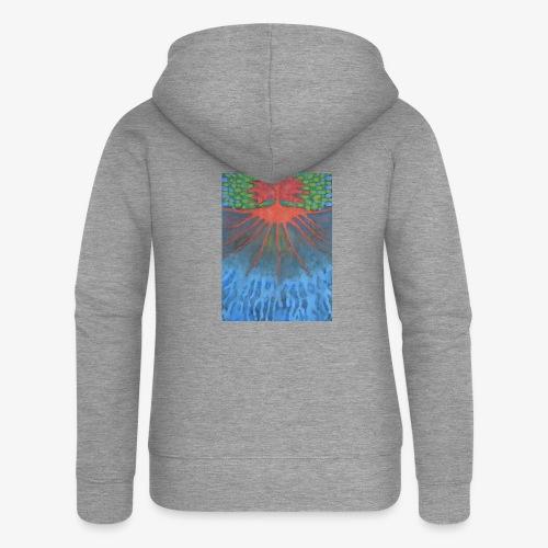 Drzewo Źycia - Rozpinana bluza damska z kapturem Premium