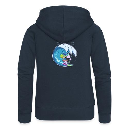 Surfing Unicorn - Women's Premium Hooded Jacket