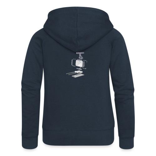 VivoDigitale t-shirt - Blackmagic - Felpa con zip premium da donna