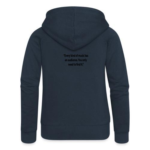 Quote RobRibbelink audiance Phone case - Women's Premium Hooded Jacket