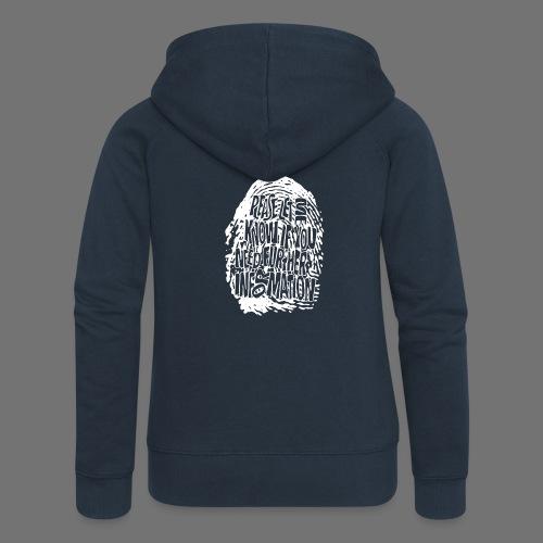 Fingerprint DNA (white) - Frauen Premium Kapuzenjacke