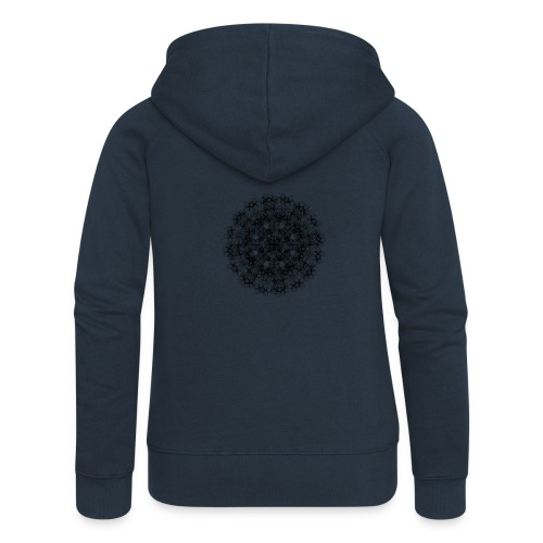 Flower mix - Rozpinana bluza damska z kapturem Premium