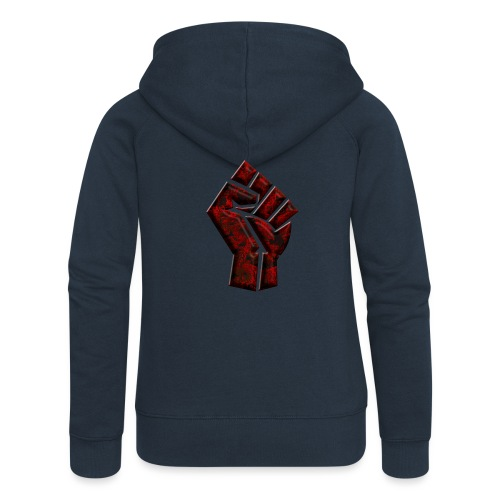 Power to the people - butterfly Red - Women's Premium Hooded Jacket