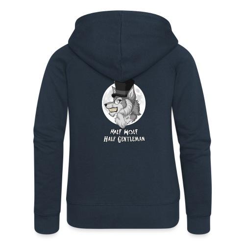 Half Wolf Half Gentleman - Women's Premium Hooded Jacket