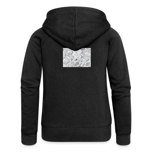 Doodle - Rozpinana bluza damska z kapturem Premium