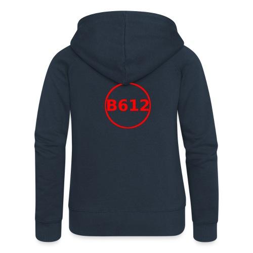 b612 png - Felpa con zip premium da donna