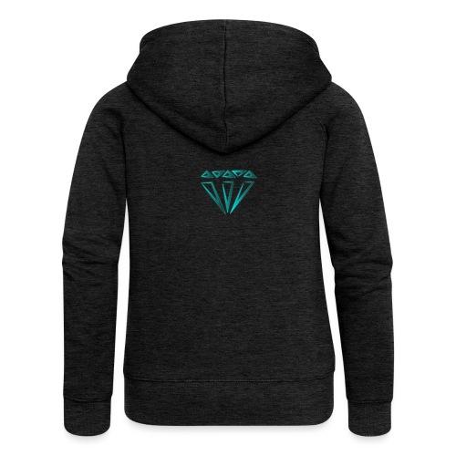 diamante - Felpa con zip premium da donna