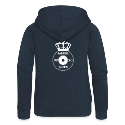 The Barbell Queen - Women's Premium Hooded Jacket