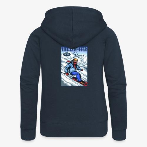 Ski Life - Veste à capuche Premium Femme
