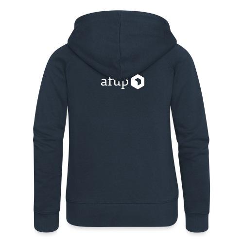 Le logo AFUP en blanc - Veste à capuche Premium Femme