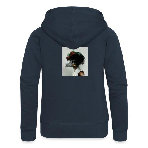 pini punk - Rozpinana bluza damska z kapturem Premium
