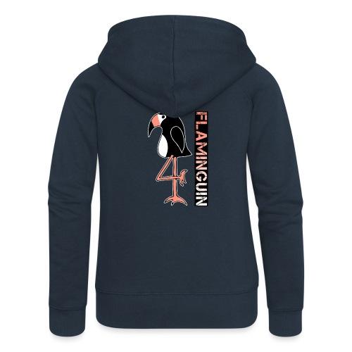 Pinguin Flamingo Flaminguin - Frauen Premium Kapuzenjacke