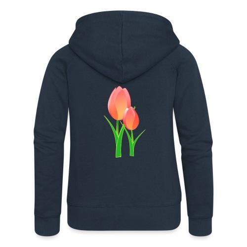 Belle fleur - Veste à capuche Premium Femme
