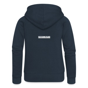 Festering Films Logo (White) - Women's Premium Hooded Jacket
