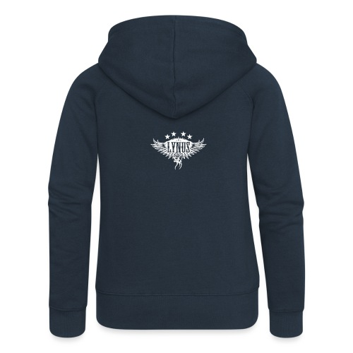 Large Lynus logo White - Women's Premium Hooded Jacket