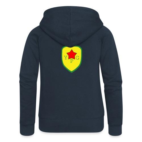 Unisex Red YPG Support Hoodie - Naisten Girlie svetaritakki premium