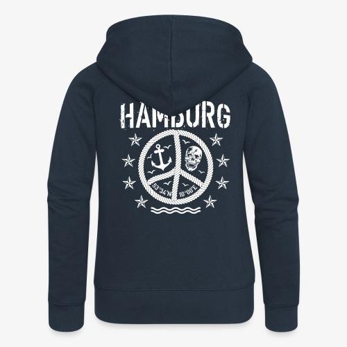 105 Hamburg Peace Anker Seil Koordinaten - Frauen Premium Kapuzenjacke