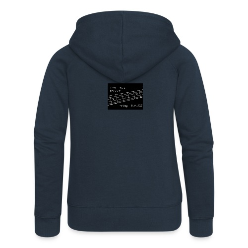 I M ALL ABOUT THE BASS - Women's Premium Hooded Jacket