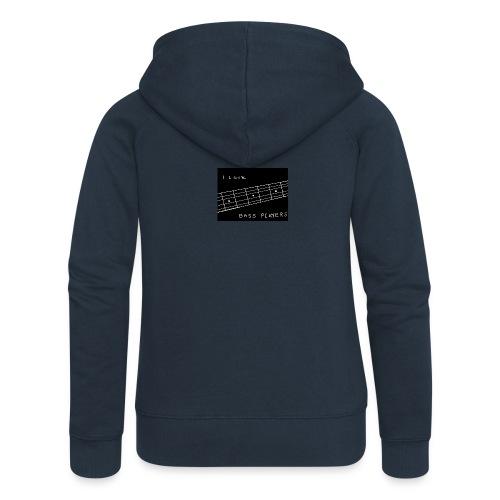 I Love Bass Players - Women's Premium Hooded Jacket