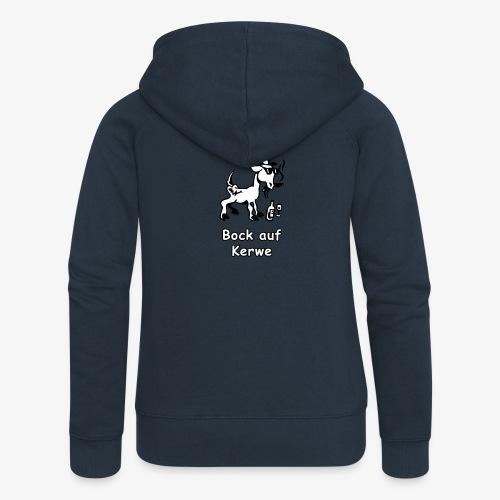 Bock auf Kerwe Logo schwarz-weiß - Frauen Premium Kapuzenjacke