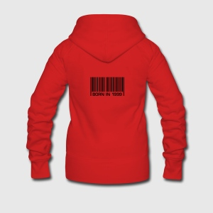 born in 1999 18th birthday 18. Geburtstag barcode - Frauen Premium Kapuzenjacke