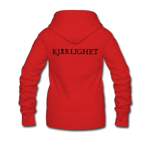 Kjærlighet (Love) | Black Text - Women's Premium Hooded Jacket