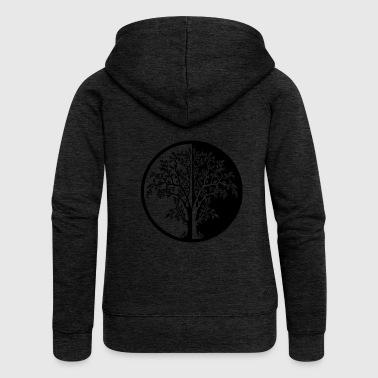 015 - träd - Premium luvjacka dam