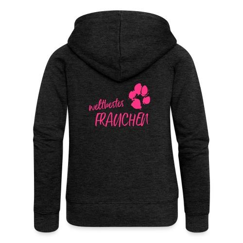 Vorschau: weltbestes Frauchen Pfote Hund - Frauen Premium Kapuzenjacke