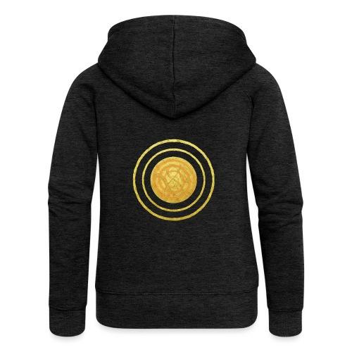 Glückssymbol Sonne - positive Schwingung - Spirale - Frauen Premium Kapuzenjacke