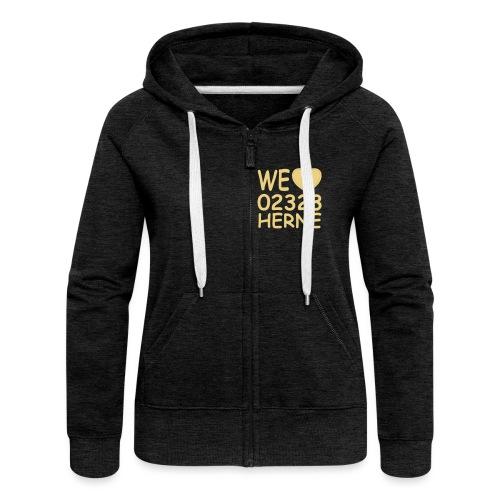 We love 02323 Herne - Frauen Premium Kapuzenjacke