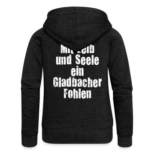 Mit Leib und Seele ein Gladbacher Fohlen1 - Frauen Premium Kapuzenjacke
