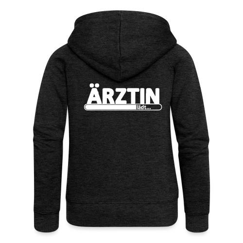 aerztin-white_sweat - Frauen Premium Kapuzenjacke