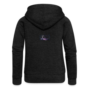 Cap logo Purple - Women's Premium Hooded Jacket