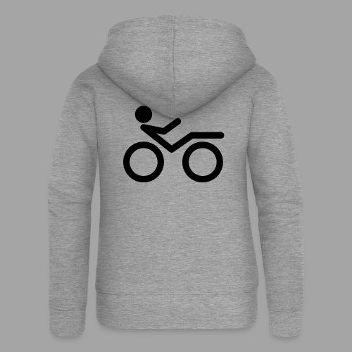 Recumbent bike black 2 - Naisten Girlie svetaritakki premium