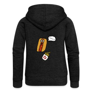 HOTDOG MERCY - Women's Premium Hooded Jacket