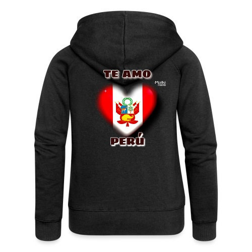 Te Amo Peru Corazon - Women's Premium Hooded Jacket