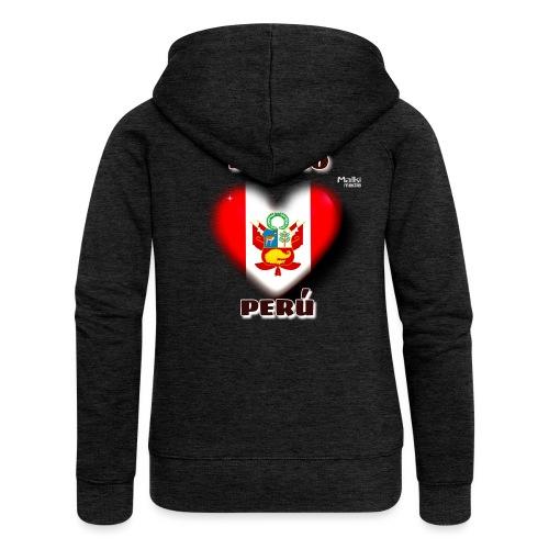 Te Amo Peru Corazon - Frauen Premium Kapuzenjacke